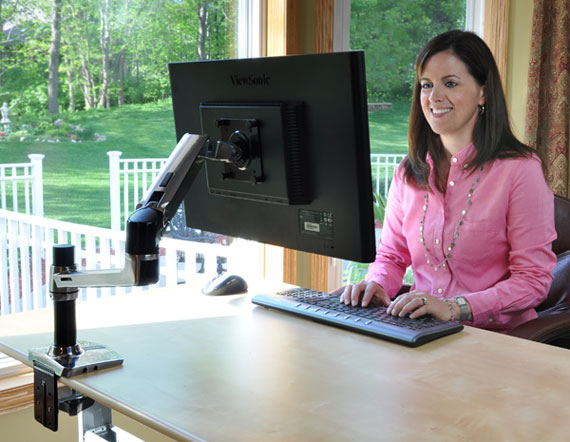 MGTC SHOP 45-241-026 LX Desk זרוע שולחנית ארגונומית למסך office