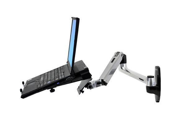 45-243-026 LX Wall זרוע ארגונומית עם חיבור לקיר למסך או מחשב נייד laptop