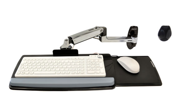 45-246-026 LX Keyboard זרוע ארגונומית למקלדת ועכבר עם חיבור לקיר