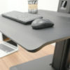 "YG-ST15B עמדת עבודה עמידה/ישיבה למסך, מקלדת ועכבר, ע""ג שולחן, צבע שחור"